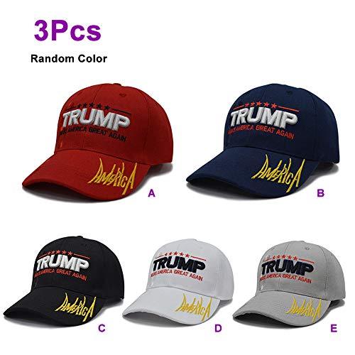 Trump 2020 Baseball Cap Kappe -Hut mütze Unisex Campaign Vote Cap - Donald Trump Sun Visor Hats Outdoor mütze Sportmütze verstellbare Vatertag 209 ()
