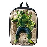 Hombre De Hierro Capitán Americano Gigante Verde Mochila Escolar Para Niños Mochilas Para Adolescentes Para Niños Y Niñas Mochilas 2-5 Años De Edad,Hulk(A)-30 * 22 * 8cm