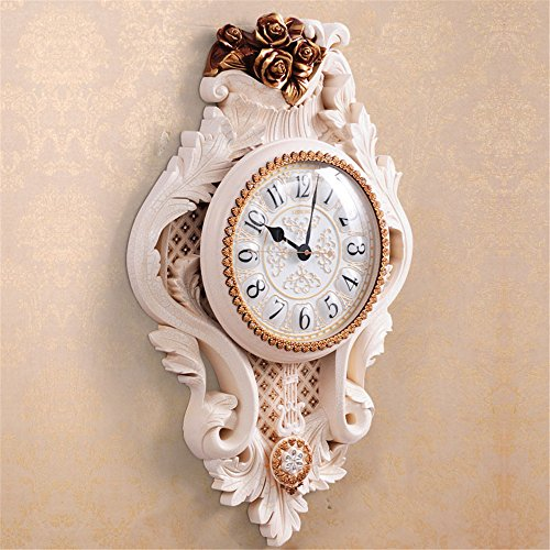 FUXINGXING Kontinentales Deluxe Jugendstil Wohnzimmer Wanduhr Home Kreative Big Wall Mount Tabelle