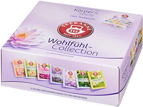 TEEKANNE Teesortiment Wohlfühl-Collection, sortiert, Beutel aromaversiegelt (180 Stück), Sie erhalten 1 Packung á 180 Stück - Zitronenverbene, Lavendel Und Thymian