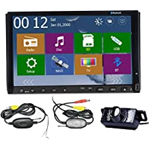 "Alta Definici¨®n de Windows 8 WINCE 8,0 UI Navegador GPS 3D PIP Bluetooth cable USB 7 ""HD Doble 2 Din Car Radio DVD directamente para la c¨¢mara iPhone BT + Wireless LED trasera"