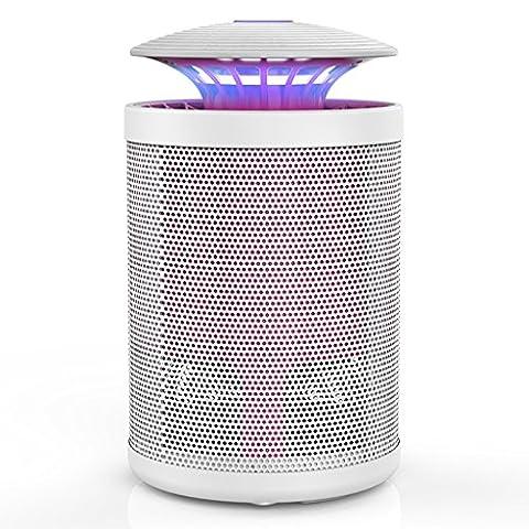 Miluce Lampe anti-moustique 15 * 15 * 25cm maison sans rayonnement muette artifact chambre anti-moustique piège électronique forte bougie d'aspiration moustique ( Couleur : Blanc )