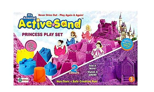 Golden Feather Ekta Active Sand Princess Play Set 2 Colors Sand ( Kinetic Sand Color May Vary)