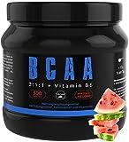GYM - NUTRITION BCAA + VITAMIN B6   Hochdosiertes Pulver   Leucin   Isoleucin   Valin 2:1:1   In Deutscher Premium Qualität   Vegan   Geschmack Wassermelone