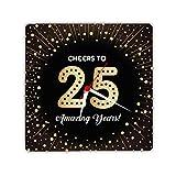 Designer Panda, Cheers to 25 Amazing Years Printed Light Weight Wall Clock 8 inches