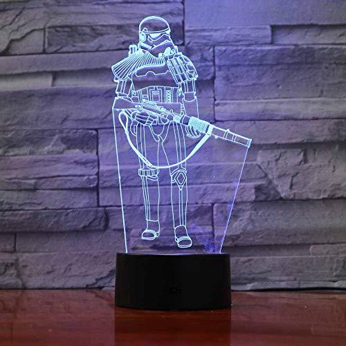 Star Wars Krieger Nightlight Für kinder Touch Led Wonder Woman Modellierung Hulk Led Super Hero Tischlampe Raumdekoration Freund Kollege Geschenk ()