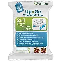 Up & Go Bolsas para orinal de viaje infantil, compatibles 100% con Pote Plus, 35 unidades
