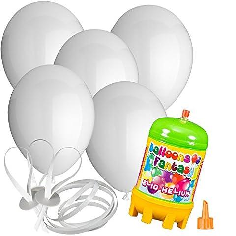 30x Rundballons weiß Ø30cm + Helium Ballongas + PORTOFREI +