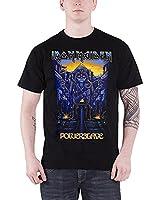 Iron Maiden T Shirt Powerslave Dark Ink band logo Official Mens Black XXL
