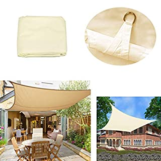 AutoBaBa 4x3m Rectangle Sun Shade Sail - Beige - Outdoor Garden Patio Party Sunscreen Awning Canopy, 98% UV Block, Water Resistant Waterproof