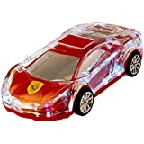 WS-980 Cool Racing Car Design MP3 Car Speaker With USB Port, FM Radio & TF Card Reader Lamborghini (Red)
