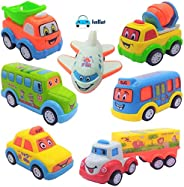 FunBlast Unbreakable Pull Back Vehicles   Push and Go Crawling Toy Car for Kids & Children, Friction Power