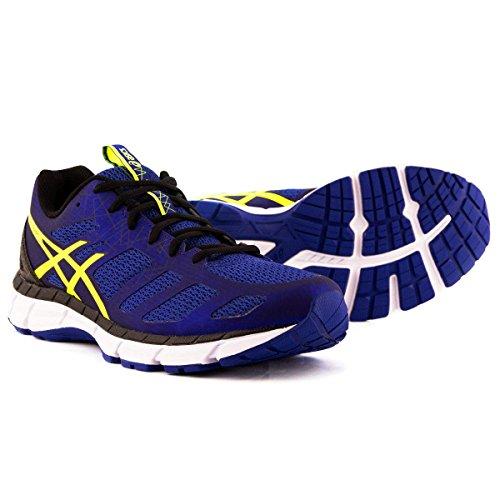 Asics Gel-Chart 3 - Zapatillas de Running para Hombre (T60UQ), Blue/Flash Yellow/Black, UK 9.5 / EU 44.5 / US 10.5 / CM 28.25