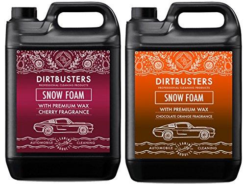 dirtbusters-schokolade-orange-und-cherry-schnee-foam-shampoo-reiniger-mit-high-gloss-wax-5l-fur-prof