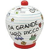 """SALVADANAIO terracotta """"DA GRANDE SARO' RICCO"""" cod.94514"""