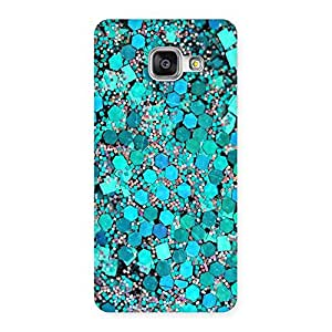 Stylish Paper Green Print Back Case Cover for Galaxy A3 2016