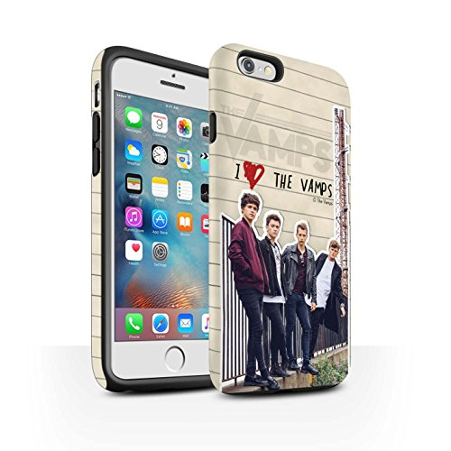 Offiziell The Vamps Hülle / Matte Harten Stoßfest Case für Apple iPhone 6+/Plus 5.5 / Pack 5pcs Muster / The Vamps Geheimes Tagebuch Kollektion Band