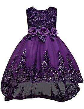 Fantast Costumes Niña Flores de Encaje Formal Vestido de Fiesta de la Princesa de la Boda