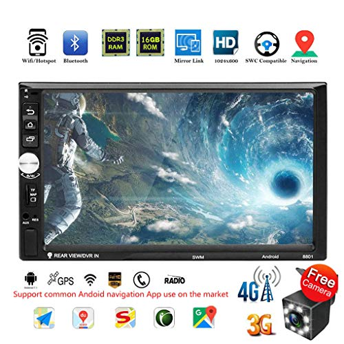 BeIilan 4G WiFi 7-Zoll-Touch-Screen-Doppel 2DIN GPS FM Radiostereo-Auto-MP5 kompatibel für Android 7.1 Dongle Gps