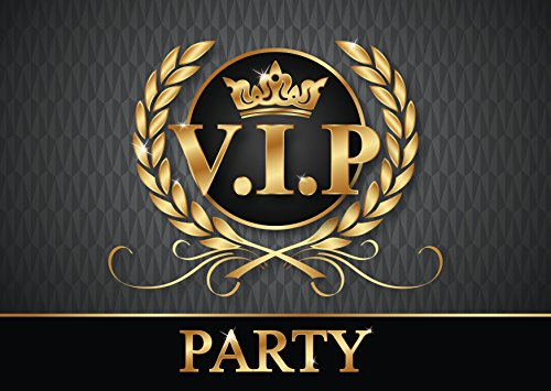 """""""VIP-PARTY-EINLADUNGEN"""": 12-er-Set edle Einladungskarten zur VIP-Party oder Kindergeburtstag von EDITION COLIBRI © - umweltfreundlich, da klimaneutral gedruckt"""