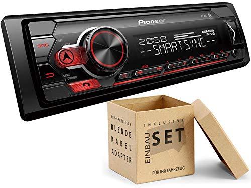 Pioneer-MVH-S310BT-1-DIN-Autoradio-mit-Bluetooth-ohne-CD-Laufwerk-Shortbody-fr-BMW-3er-bis-2005