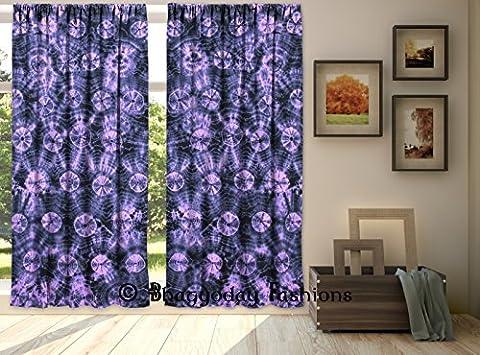 indischen Fenster Volants Baumwolle Door Hanging Shibori Wellen Hand Tie