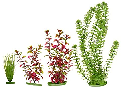 Marina Aquascraper Plastic Aquarium Plants, Large