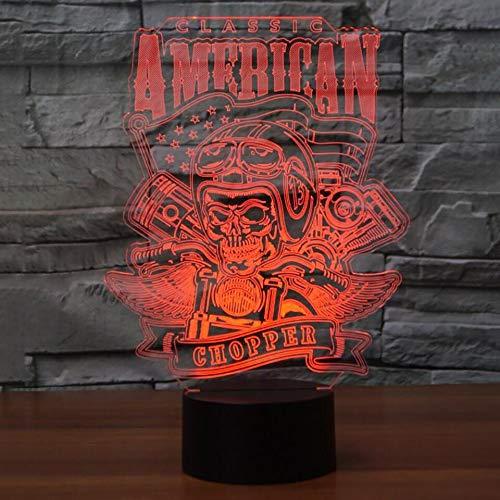 3D Motorrad Modellierung Tischlampe LED USB Schädel 7 Farben Ändern Touch Luminarias Lampe Wohnkultur Nachtlicht Cool Boy Geschenke -