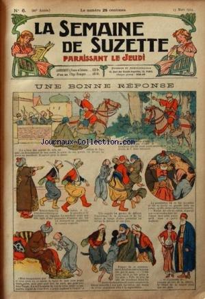 SEMAINE DE SUZETTE (LA) [No 6] du 13/03/1924 - UNE BONNE REPONSE - LES BONNES IDEES DE BECASSINE