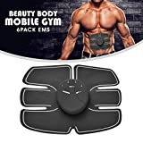 #1: GA+ Beauty Body Mobile-Gym 6 Pack EMS Tummy Flatter, Weight loss Muscle Toning/ Fitness Technology Kit 6 Pack Abs, Wireless Electro Pad Portable Gym Trainer for Men/Women