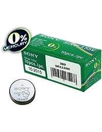 1 x Sony 389 SR1130W óxido de plata 0% Mercury para reloj