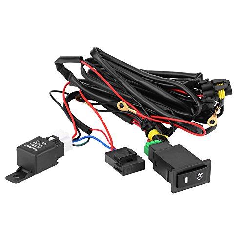 Kit cablaggio interruttori fendinebbia universali, Kit interruttore fusibile per barra luminosa a LED 12V 40A