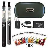DIPSE e Dampfer / e Zigarette Starterset - 2x eGo-T mit 1100mAh Evod, CE4 inklusive 10 x 1,5ml Liquid ohne Nikotin -