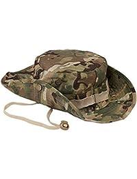 Leisial Sombrero Estampado De Camuflaje Del Ejército de Ala Ancha Borde Redondo Anti-UV Algodón Outdoor Acampada Senderismo Deporte al Aire Libre Gorra Montaña para Adulto Unisexo