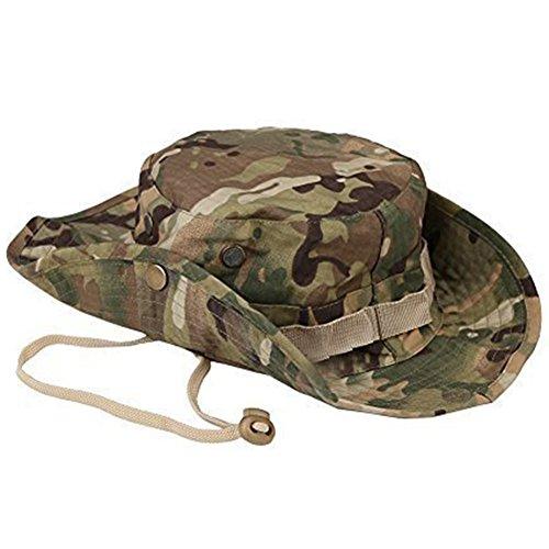 Wicemoon Männer Sun Strohhut Camouflage Bucket Hut Militär Angeln Camping Cap Jagd Dschungel Breiter Krempe Eimer Outdoor Sun-Shading für Sommer Sun Cap -
