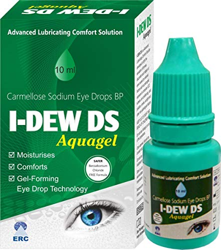I-Dew DS Night-Time Aqua Gel Eye Drops for Dry Eyes, Massive 50% Spring/Summer Discount, Preservative-Free, Eye Drops for Contact Lens Users and Red Eyes