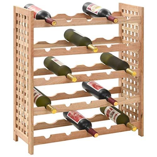 Festnight- Etagère à Bouteille Cave à vin Casier à Bouteilles Range Bouteille Meuble à Bouteille 25 Bouteilles en Bois 63 x 25 x 73 cm