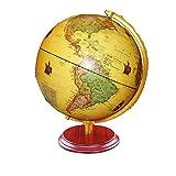 KX-YF Mappa Globe Illuminato Mondo Globo con la Base in Legno dettagliata Mappa del Mondo, Regalo educativo, Night Stand Decor for Bambini Adulti Gialle con Il Supporto del Basamento