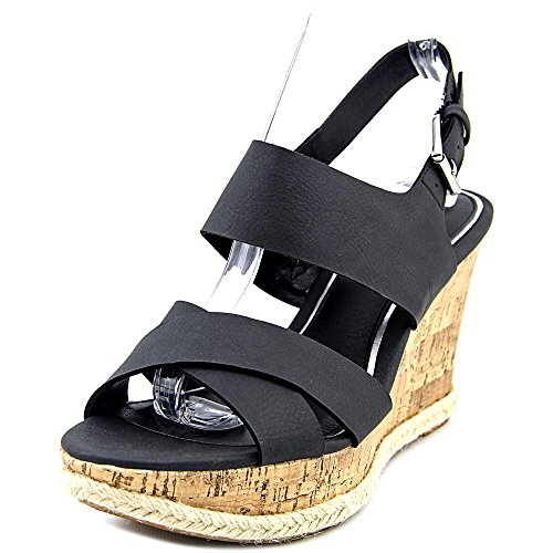 American Living Adrina Femmes Synthétique Sandales Compensés Black