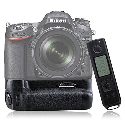 Mcoplus DR7100 Grip con batteria telecomando per Nikon D7100, colore: nero