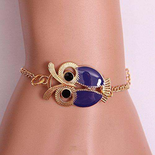 Qiuday Unendlichkeits-Eulen-Perlen-Freundschafts-mehrschichtiges Charme-Lederarmband-Geschenk Mode frauen schöne eule schmuck zubehör freundschaft charme armbänder geschenk