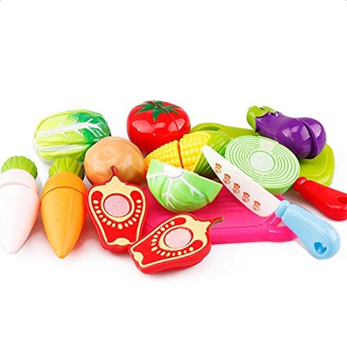 Atommy 13 Pcs Juguetes de cocina para niños Electrodomésticos Juguetes de cocina Fruta Che Qie Le Verduras Set de juguetes de cocina para niños