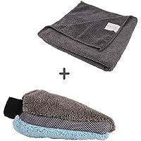 BONORUM Guante de Microfibra Paño de Microfibra - Guante de Lavado para una Limpieza y Pulido Suaves - Guante para Lavado de Coches Altamente Absorbente (1 pcs)