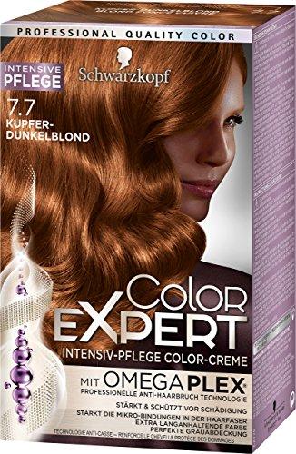 Schwarzkopf Color Expert Intensiv-Pflege Color-Creme 7.7 Kupfer-Dunkelblond, 3er Pack (3 x 167 ml)