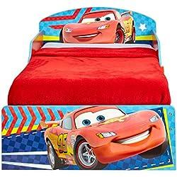 Cars 516CAC Lit pour enfant, Bois, Rouge, 142 x 77 x 59 cm