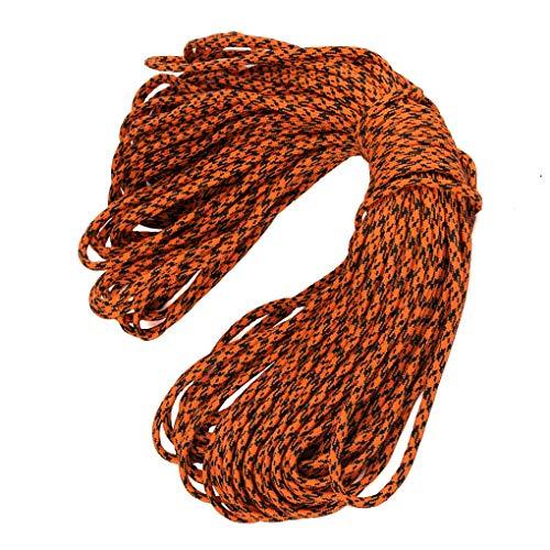 fish 100m 5mm 7adrig Camping-Zelt Fix Weaving Bindung Regenschirm Seil geflochtene Schnur Outdoorrettungsleine