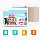 Yuntab K17 10.1 Inch Quad Core 1.3Ghz Google Android 5.1,Unlocked Smartphone Phablet Tablet PC,1G+16G,HD 800x1280,Dual Camera,IPS,WiFi,Bluetooth,GPS,G-Sensor,Support 3G,SIM/MMC/TF Card with Alloy Metal Back(Rose gold)