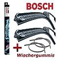 BOSCH Aerotwin A410S 3397007410 Scheibenwischer Wischerblatt Wischblatt Flachbalkenwischer Scheibenwischerblatt 600 / 550 Set + 2 x Ersatz Wischergummis für die BOSCH Aero Serie