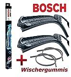 BOSCH Aerotwin AR532S 3397118986 Scheibenwischer Wischerblatt Wischblatt Flachbalkenwischer Scheibenwischerblatt 530 / 500 Set + 2 x Ersatz Wischergummis für die BOSCH Aero Twin Serie