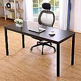 Need Computertisch Schreibtisch Extra Großer XXL Arbeitstisch Bürotisch Konferenztisch Esstisch PC-Tisch aus E1 Massivholzspanplatte Mit Größe Von 160x60CM,Schwarz